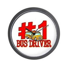 #1 Bus Driver Wall Clock