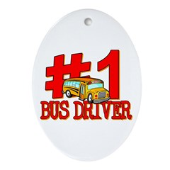 #1 Bus Driver Oval Ornament
