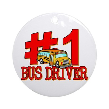 #1 Bus Driver Ornament (Round)