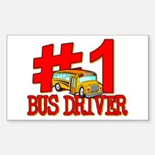 #1 Bus Driver Rectangle Decal