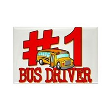 #1 Bus Driver Rectangle Magnet