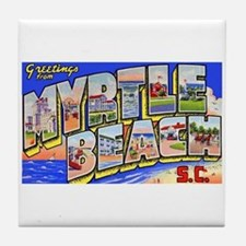 Myrtle Beach South Carolina Tile Coaster