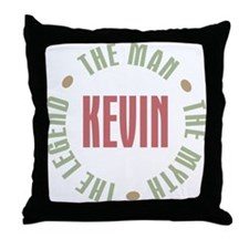 Kevin Man Myth Legend Throw Pillow
