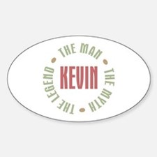 Kevin Man Myth Legend Oval Decal