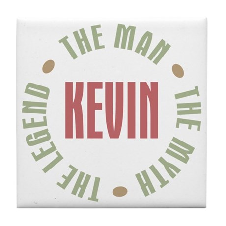 Kevin Man Myth Legend Tile Coaster