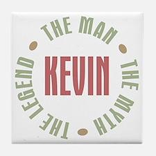 Kevin Man Myth Legend Tile Coaster