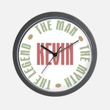 Kevin Man Myth Legend Wall Clock