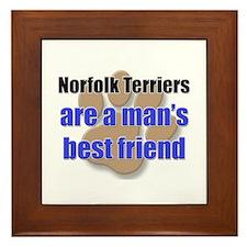 Norfolk Terriers man's best friend Framed Tile