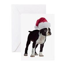 Boston Terrier Christmas Greeting Cards (Pk of 10)
