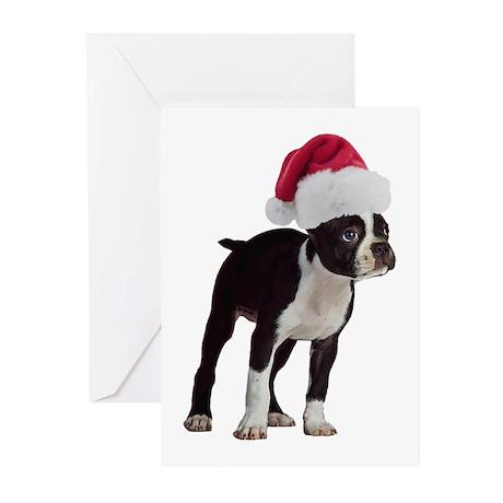Boston Terrier Christmas Greeting Cards (Pk of 10)