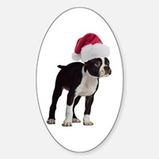 Boston Terrier Christmas Decal