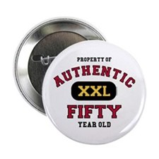 "Authentic Fifty 2.25"" Button"