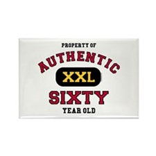 Authentic Sixty Rectangle Magnet