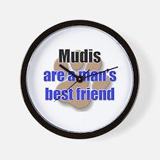Mudis man's best friend Wall Clock