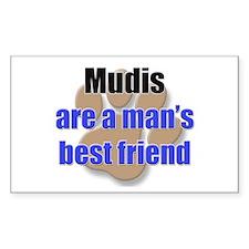 Mudis man's best friend Rectangle Decal