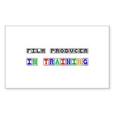 Film Producer In Training Rectangle Decal