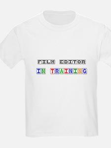 Film Editor In Training T-Shirt