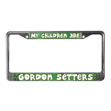 My Children Gordon Setter License Plate Frame