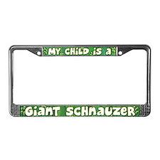 My Kid Giant Schnauzer License Plate Frame