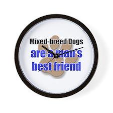 Mixed-breed Dogs man's best friend Wall Clock