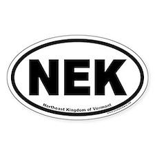 Northeast Kingdom of Vermont NEK Euro Oval Decal