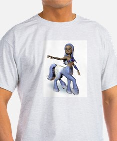 Lila the Centaur Girl Ash Grey T-Shirt