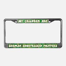 My Children German Shorthair License Plate Frame
