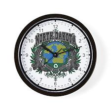 North Dakota Green Pride Wall Clock