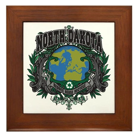 North Dakota Green Pride Framed Tile