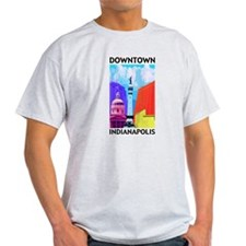 Up Down Town Ash Grey T-Shirt