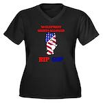 RIP GOP Women's Plus Size V-Neck Dark T-Shirt