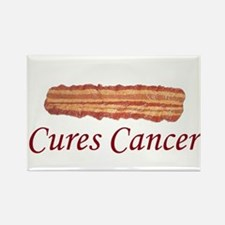 Bacon Cures Cancer Rectangle Magnet