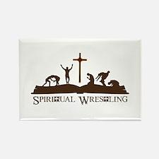 Spiritual Wrestling Rectangle Magnet