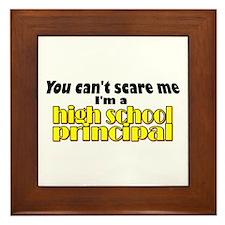 High School Principal Framed Tile