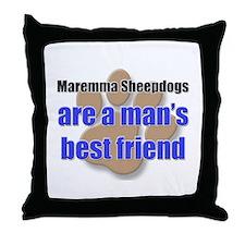 Maremma Sheepdogs man's best friend Throw Pillow