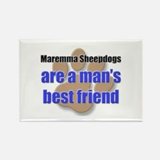 Maremma Sheepdogs man's best friend Rectangle Magn