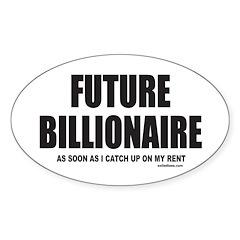 FUTURE BILLIONAIRE Oval Sticker (50 pk)