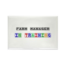 Farm Manager In Training Rectangle Magnet