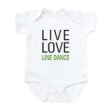 Live Love Line Dance Infant Bodysuit