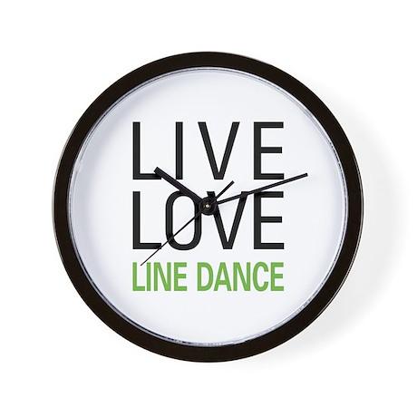 Live Love Line Dance Wall Clock