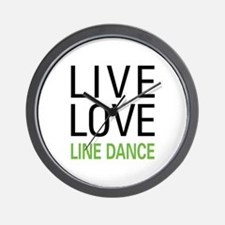 Live Love Line Dance Wall Clock