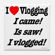 Vlogging & Cesar Tile Coaster