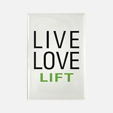 Live Love Lift Rectangle Magnet