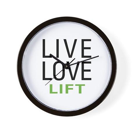 Live Love Lift Wall Clock