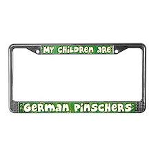 My Children German Pinscher License Plate Frame