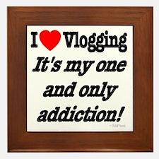 Addicted to Vlogging Framed Tile