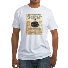 John Wilkes Booth Fitted T-Shirt