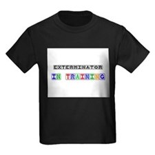 Exterminator In Training Kids Dark T-Shirt