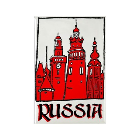 Russia Rectangle Magnet (100 pack)