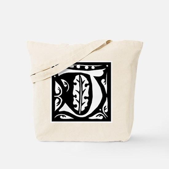 Art Nouveau Initial J Tote Bag